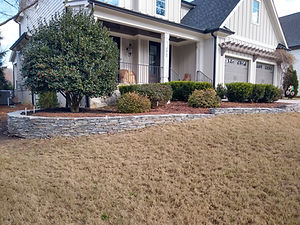 flagstone retaining wall front