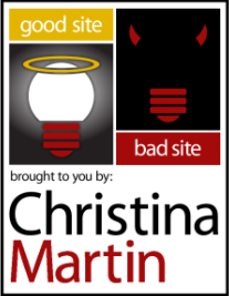 Christina Martin blog on digital marketing Good Site Bad Site