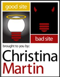 Christina Martin blog on digital marketing Good Site Bad Site