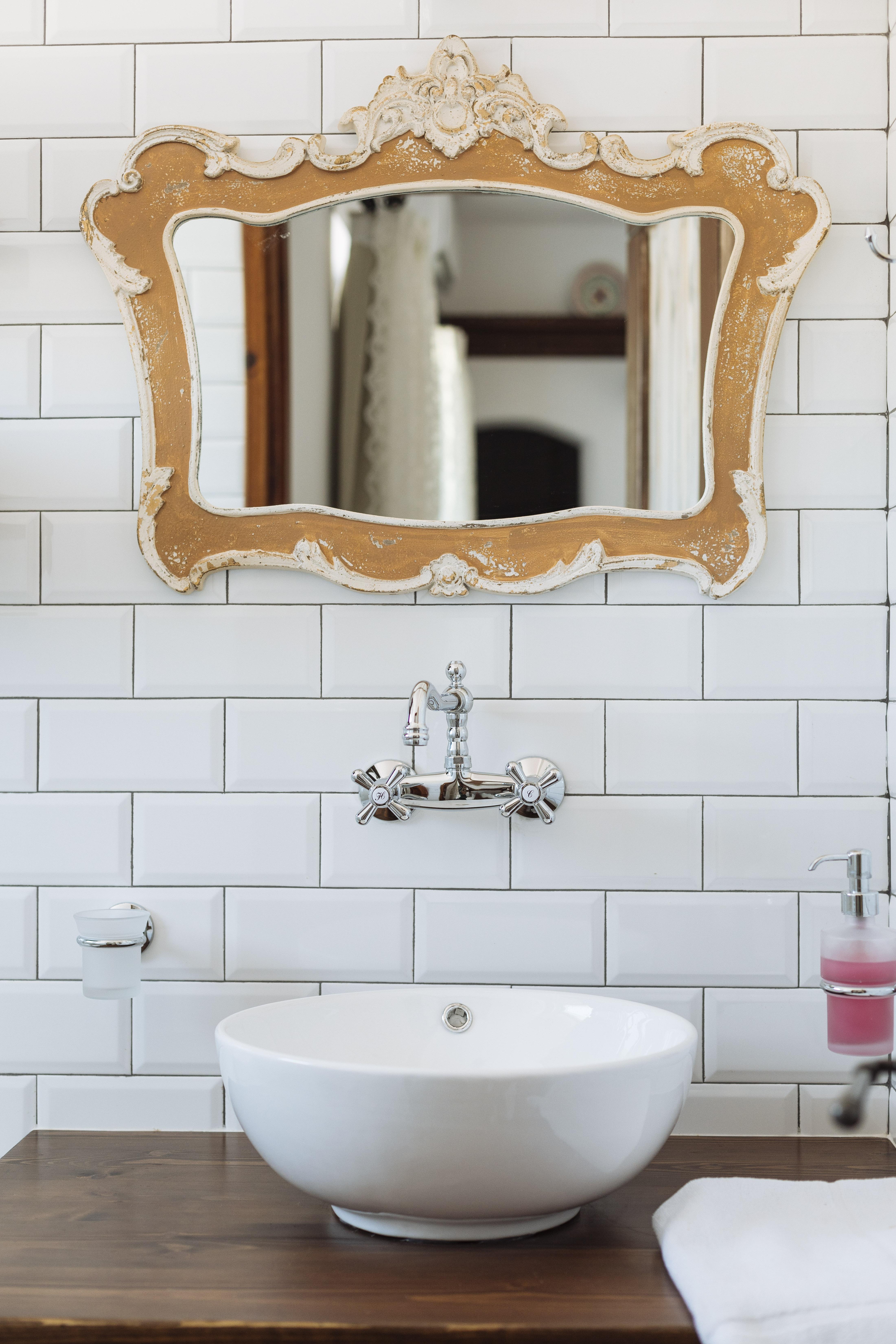 gorgona traditional bathroom mirror