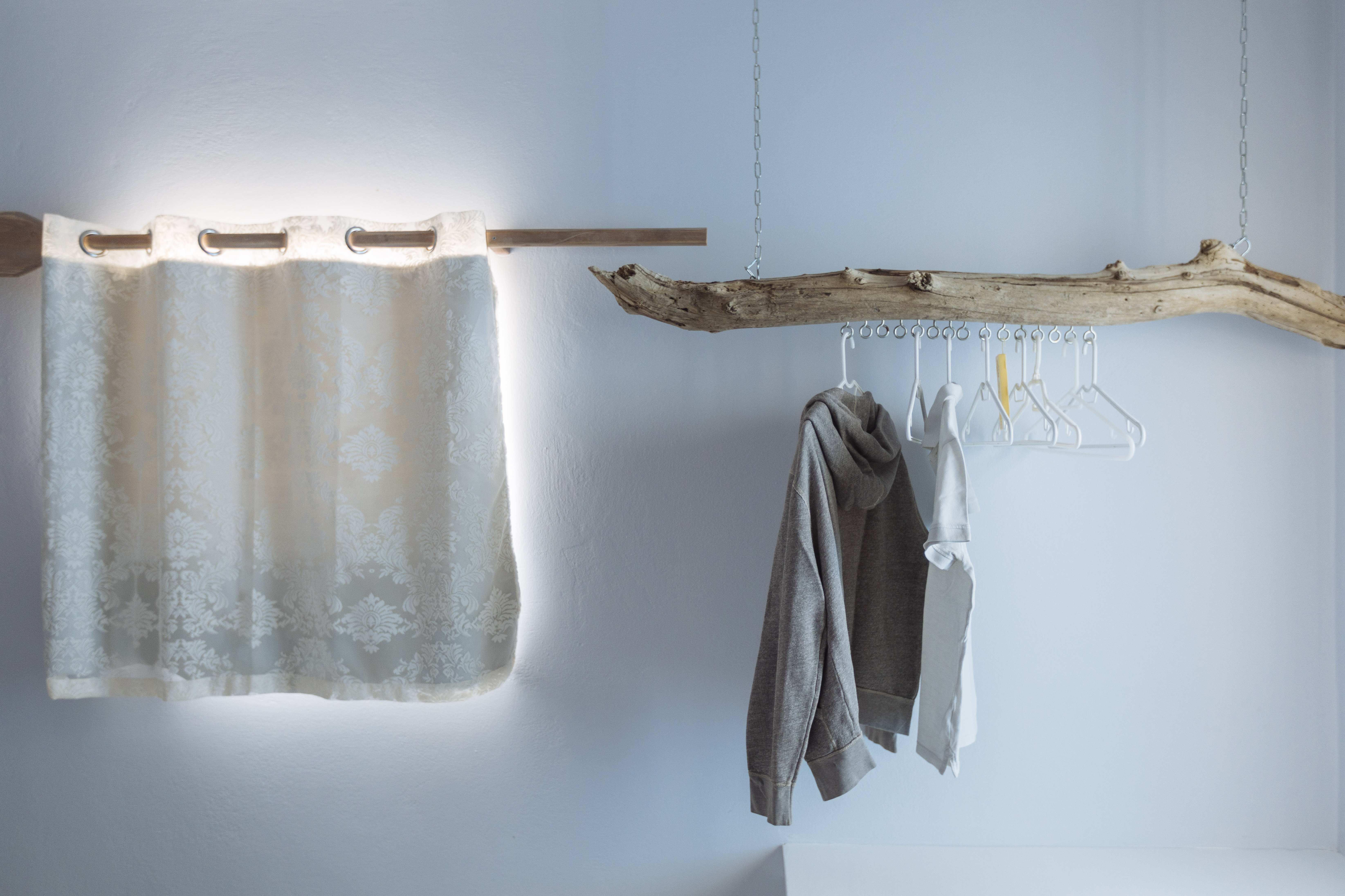 gorgona blue handmade clothes hanger