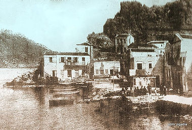 old karpathos port and buildings