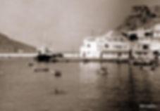 old image of karpathos port