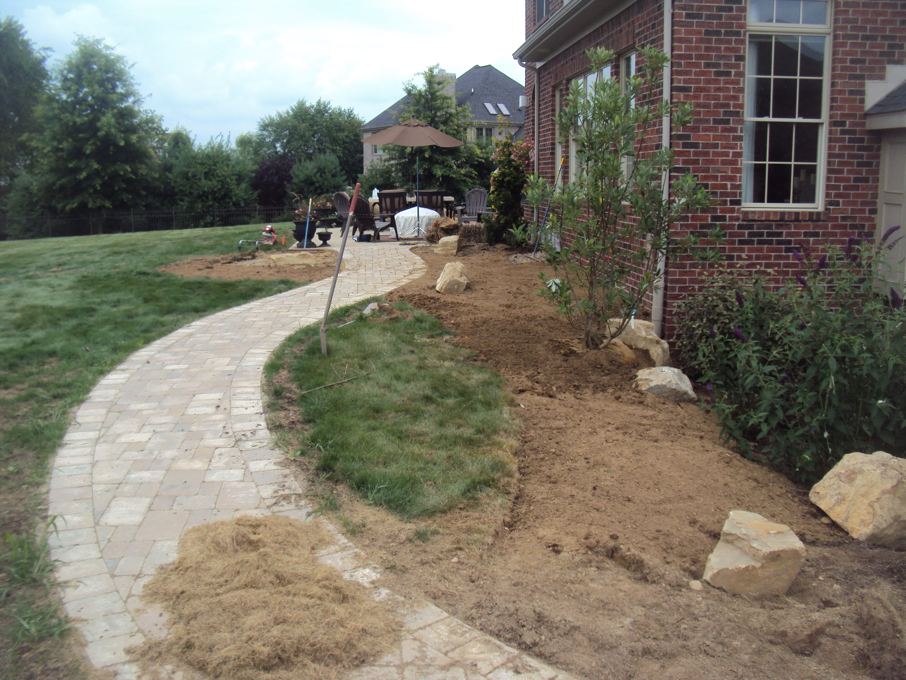 Landscaping Stone Brick Patio Work
