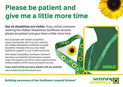 THE HIDDEN DISABILITIES SUNFLOWER