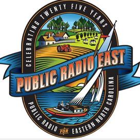 Public Radio East 25th Anniversary logo
