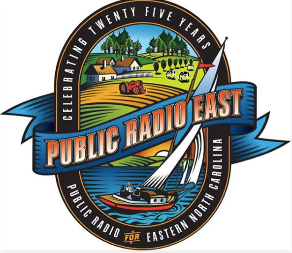 Public Radio East 25th Anniversary logo