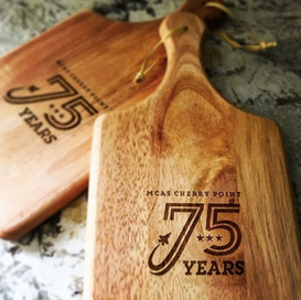 Allies for Cherry Point's Tomorrow cutting board for Sea to Table