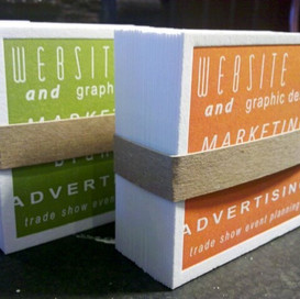 Letterpress business cards for Trade Ideas