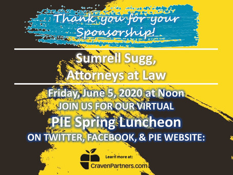 Sumrell Sugg Supports Craven PIE Spring Luncheon in 2020
