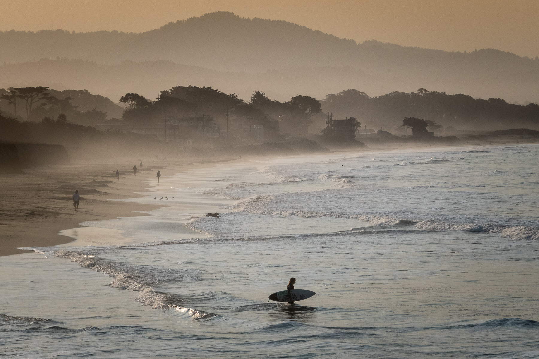 Hazy Dawn Patrol (Half Moon Bay)