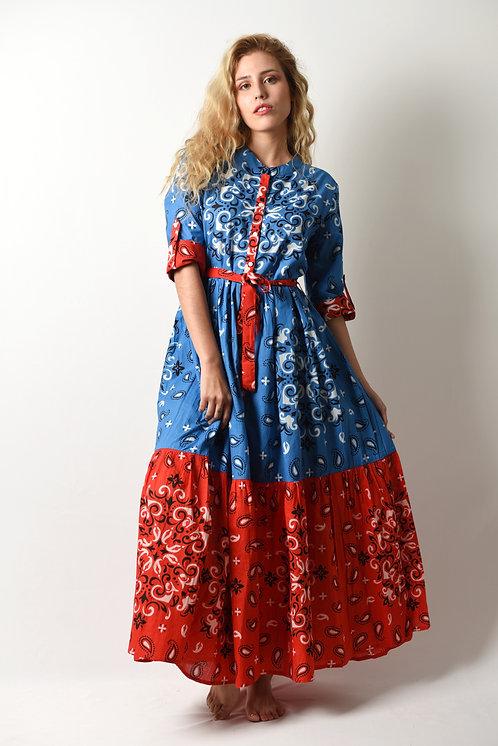 Hippie Dress Bandana Rojo