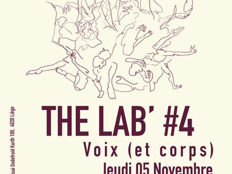 REPORTÉ : The Lab' #4: Scène ouverte expérimentale: Voix (et corps)