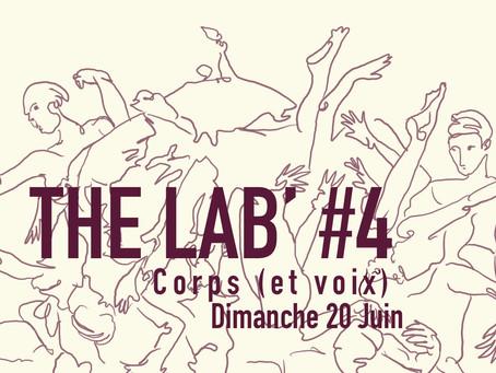 20/06 : The « Lab » #4 : Scène ouverte expérimentale : Corps (et voix)