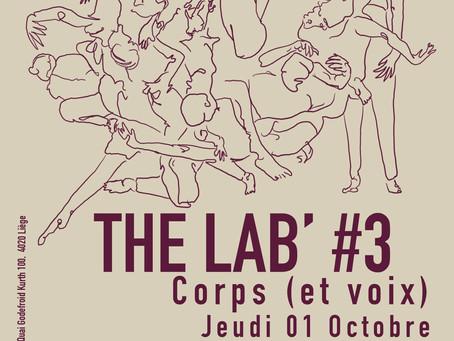 01/10 : The Lab' #3 : Scène ouverte expérimentale : Corps (et voix)