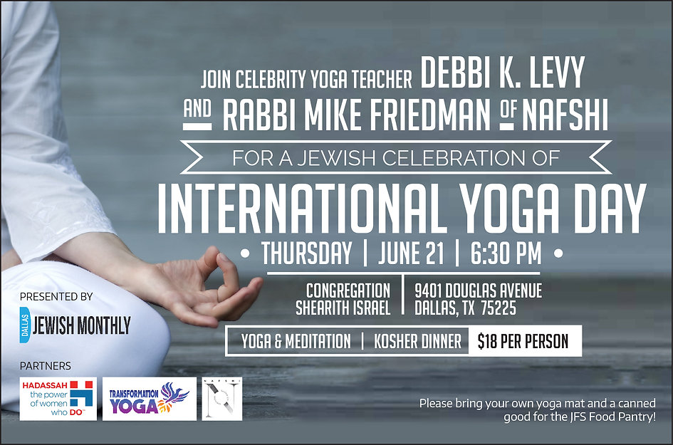 Jewish Celebration of nternatonal Yoga Day