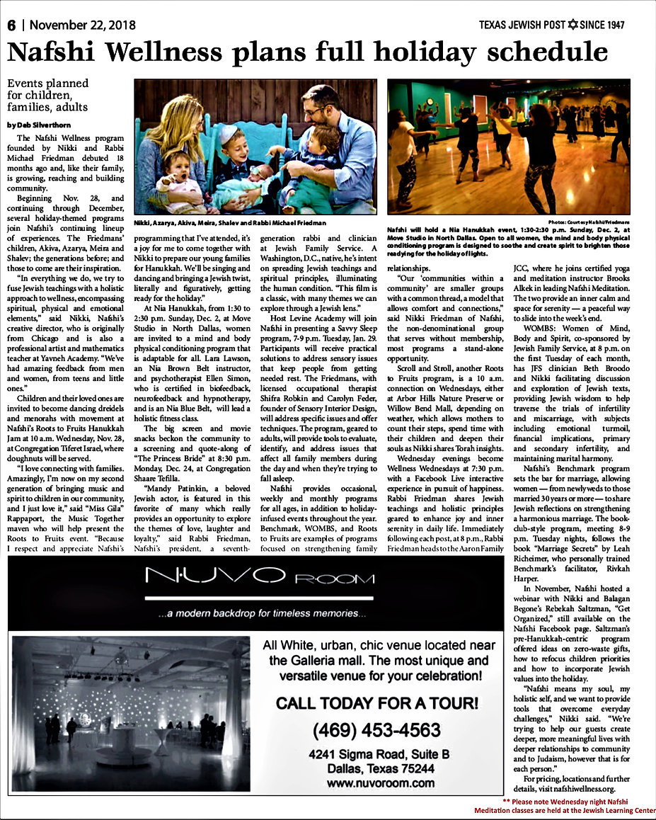nafshi Texas Jewish Post article