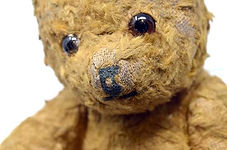 A real evacuee teddy bear from our WW2 primary artefacts box