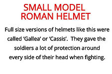 mini helmet from our roman artefacts for schools topic box