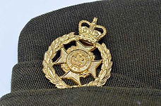 home guard soldier's cap from our WW2 artefacts for schools box