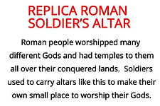 Soldier's altar from our Roman resource box for primary schools