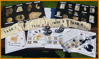 rocks and fossils primary school topic resource box