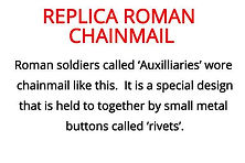 replica chainmail from our romans year 4 artefact box for primary schools