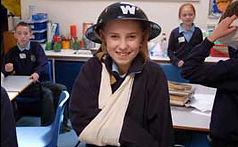 ww2 workshop girl bandaged