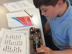year 6 electricity primary science school workshop testing morse code machine