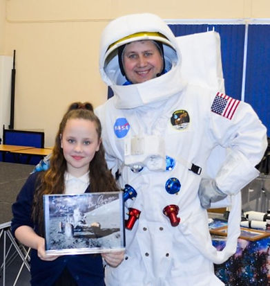 A spaceman visit for a year 5 pupil