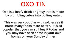 oxo tin from our WW1 artefacts for primary schools resource set
