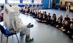key stage 1 pupils spaceman visit