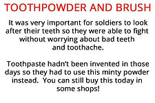 soldier's toothpowder from our WW1 artefacts for primary schools box