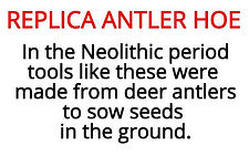 antler hoe information from stone age artefact box