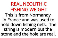 Neolithic Fishing weight from our stone age artefacts box for primary schools