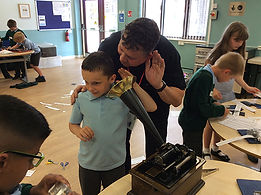 year 4 sound primary science school workshop identifying sound vibrations