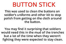 button stick from our WW1 artefacts for primary schools resource box