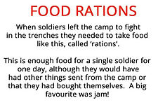 fsoldier's food rations from our primary school WW1 artefacts box