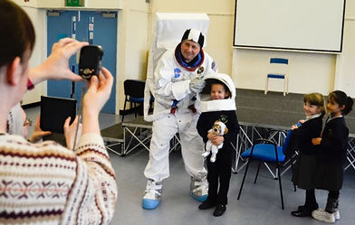 having a selfie with a spaceman in year