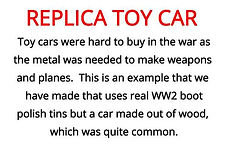 toy car from our WW2 artefacts for primary schools topic box