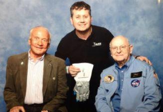 Mr B meeting Buzz Aldrin and Alan Bean.J