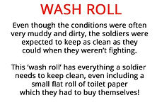 Wash roll from our WW1 artefacts for primary schools box