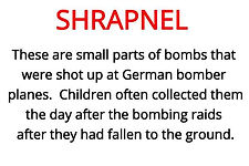 shrapnel from our WW2 artefacts box for schools