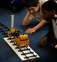 Stephenson's Rocket in our victorian primary history and science workshop for key stage 1 and key stage 2