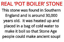 pot boiler stone from our stone age artefacts for primary schools topic box