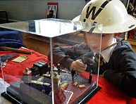 looking at a WW2 primary school model