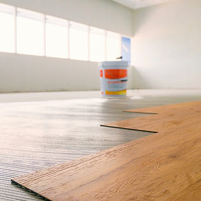 Vinylboden Dry Back vollflächig verklebt