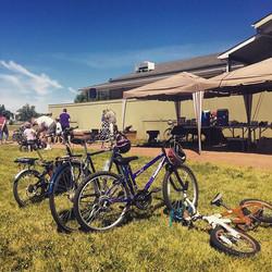 Bike Fest is on, hot dogs!