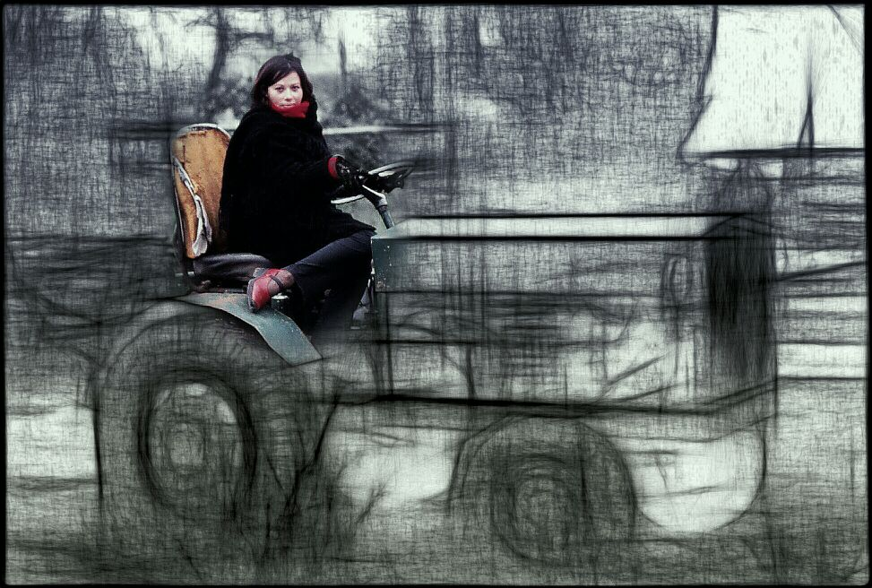 A GIRL AND A TRACTOR ( BERLIN )