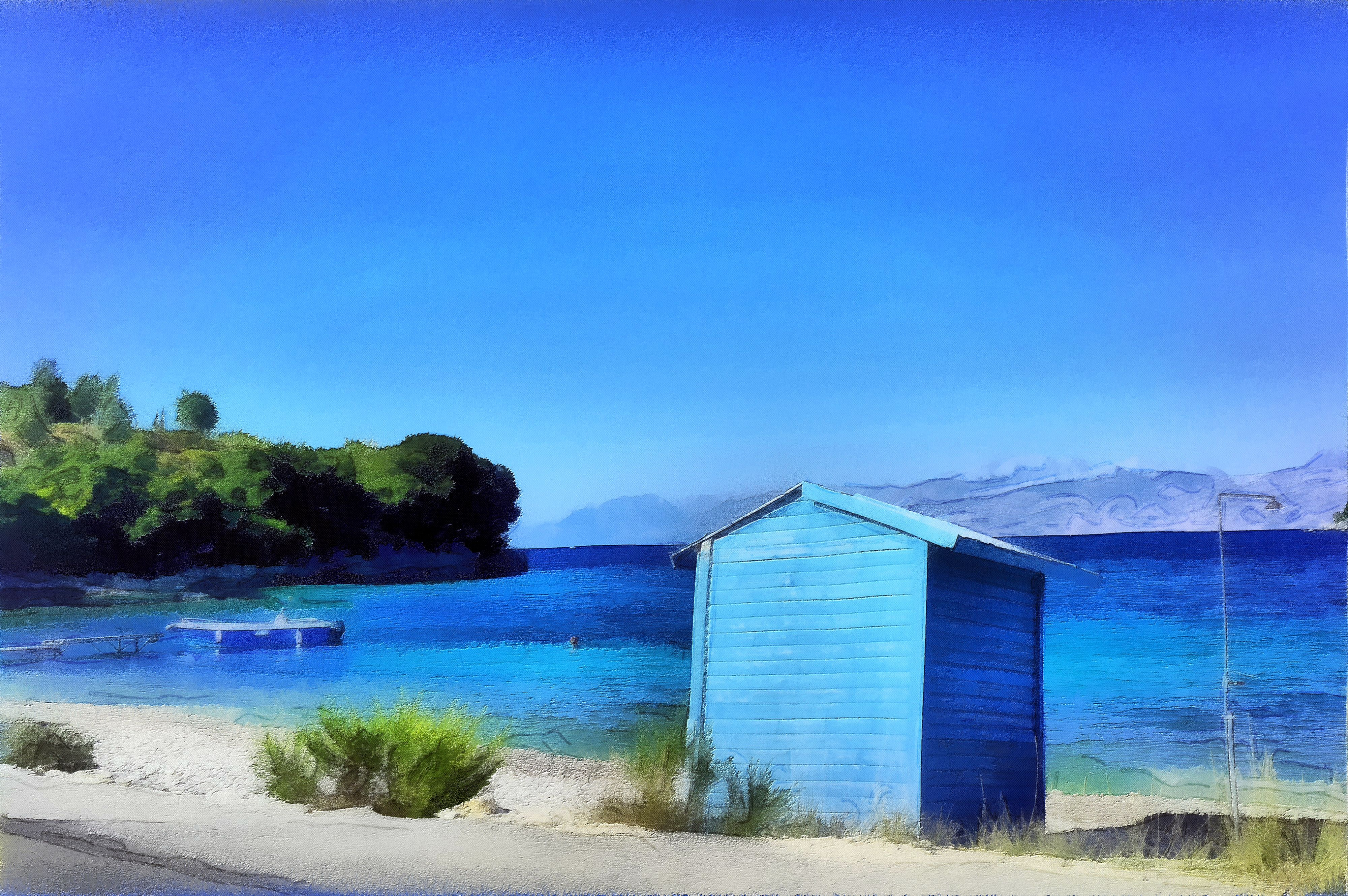 Beach Hut at Avlaki